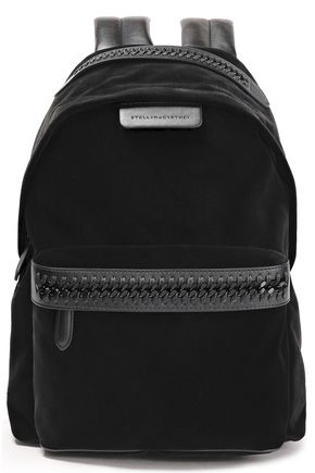 STELLA McCARTNEY Velvet and faux leather backpack