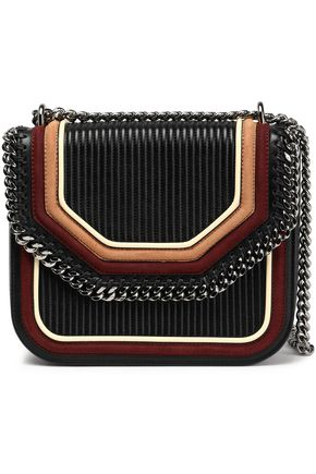 STELLA McCARTNEY Chain-trimmed quilted faux leather shoulder bag