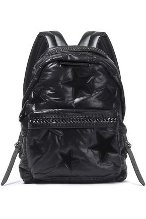 STELLA McCARTNEY Faux leather-trimmed padded shell backpack