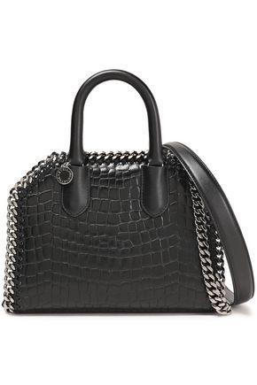 STELLA McCARTNEY Falabella box croc-effect faux leather shoulder bag