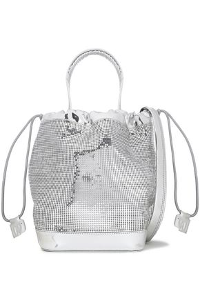 PACO RABANNE Metallic embellished bucket bag
