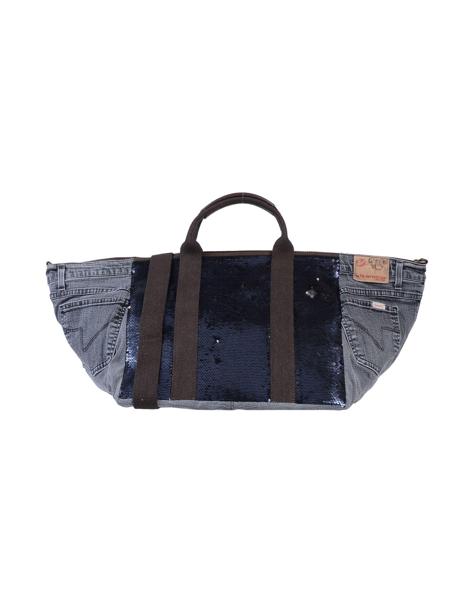 《送料無料》MAURY レディース ハンドバッグ スチールグレー 革 / 紡績繊維