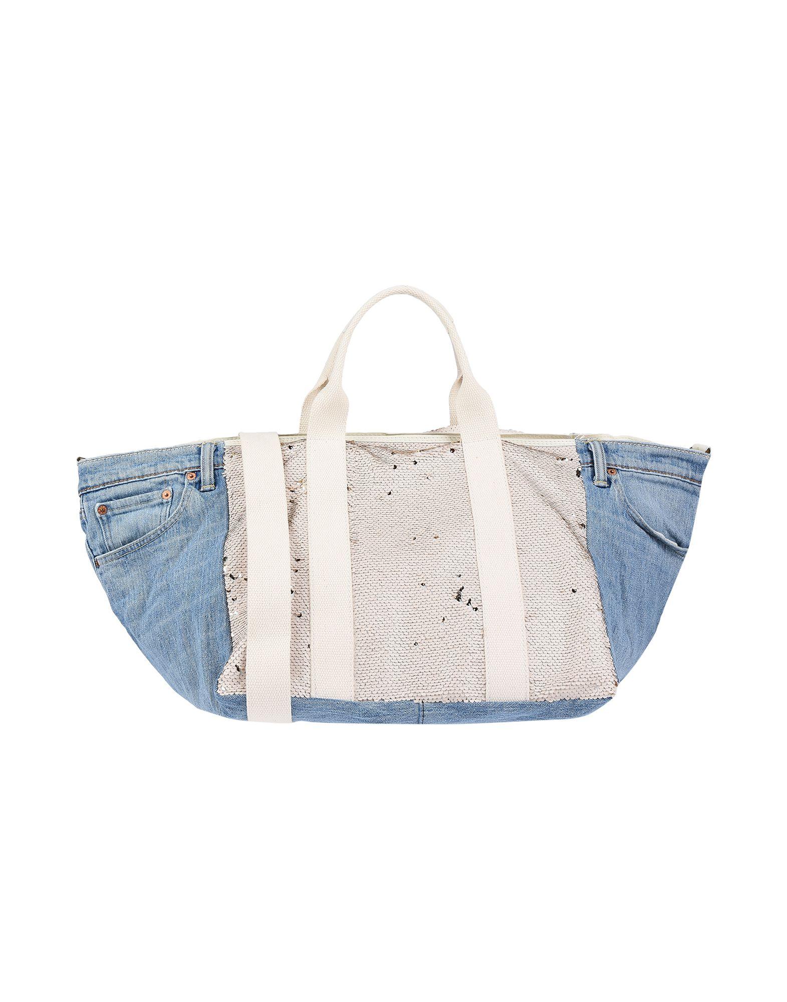 《送料無料》MAURY レディース ハンドバッグ ライトピンク 革 / 紡績繊維