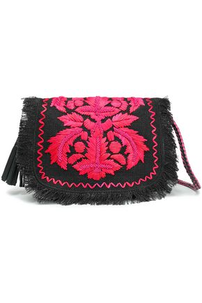 ANTIK BATIK Leah embellished fringed shoulder bag