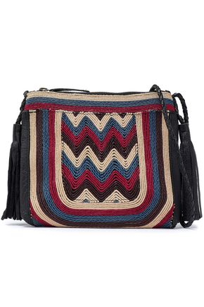 ANTIK BATIK Tikki embroidered leather shoulder bag