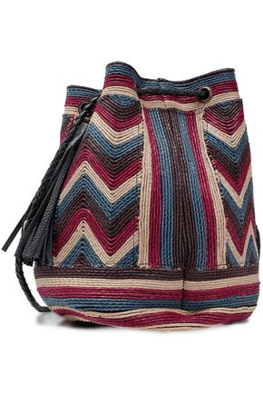 ANTIK BATIK Tikki embroidered leather bucket bag