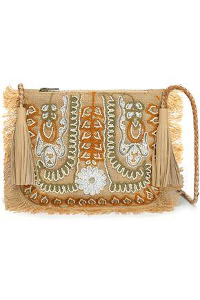 アンティック・バティック Maliah 装飾付き ジュート ショルダーバッグ