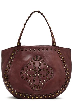 ANTIK BATIK Studded leather tote