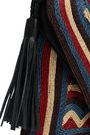 ANTIK BATIK Leather-trimmed woven shoulder bag