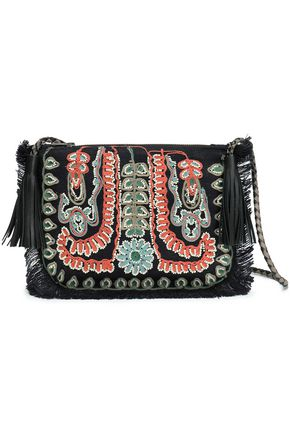 ANTIK BATIK Maliah embellished jute shoulder bag