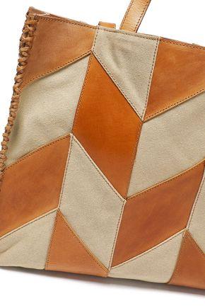 ANTIK BATIK Pietro two-tone leather tote
