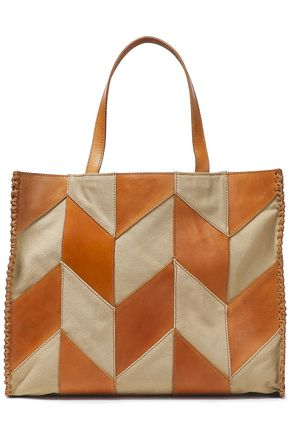 ANTIK BATIK Pietro two-tone leather tote