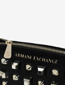 ARMANI EXCHANGE MIXED STUD LOGO WRISTLET Satchel bag [*** pickupInStoreShipping_info ***] a