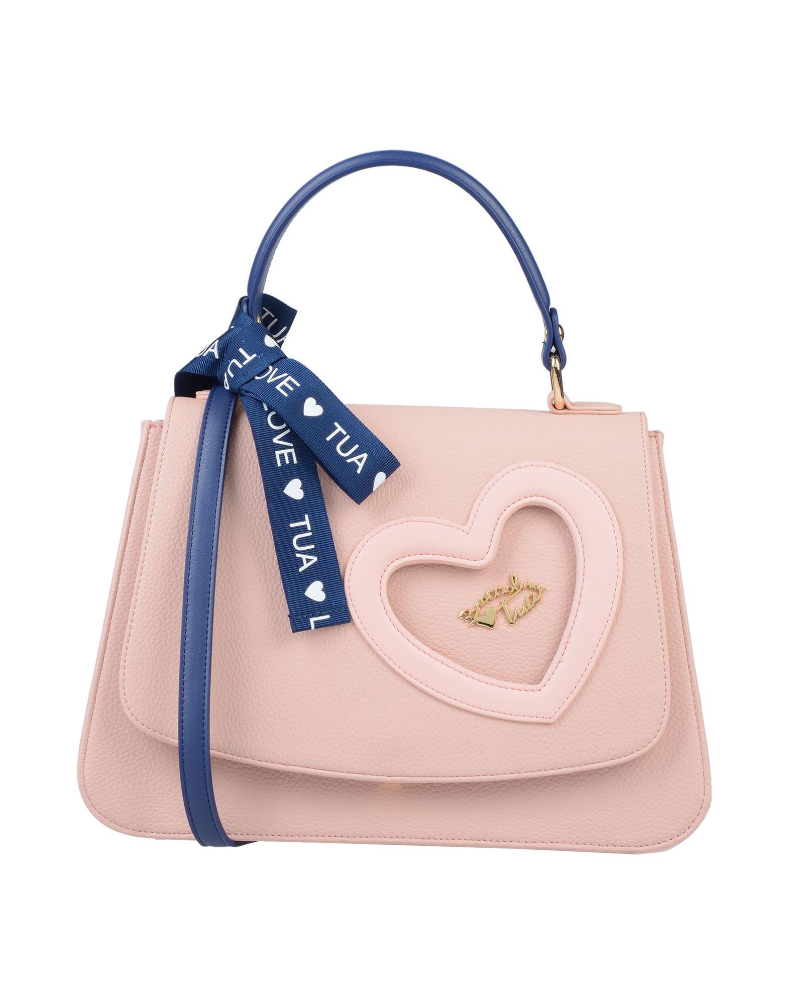 《送料無料》TUA BY BRACCIALINI レディース ハンドバッグ ピンク 紡績繊維