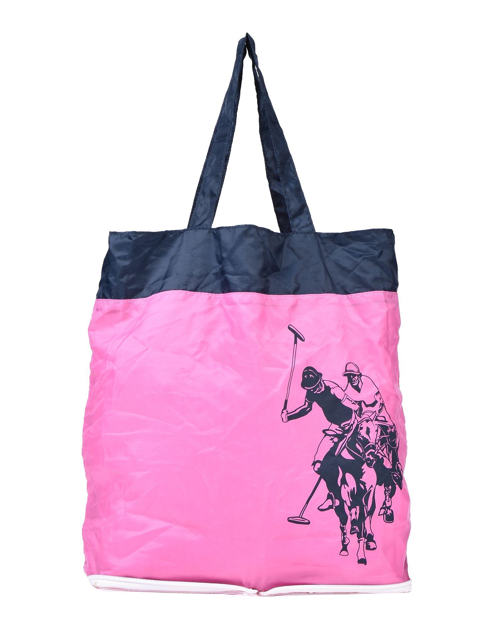 《期間限定セール中》U.S.POLO ASSN. レディース ハンドバッグ ピンク 紡績繊維