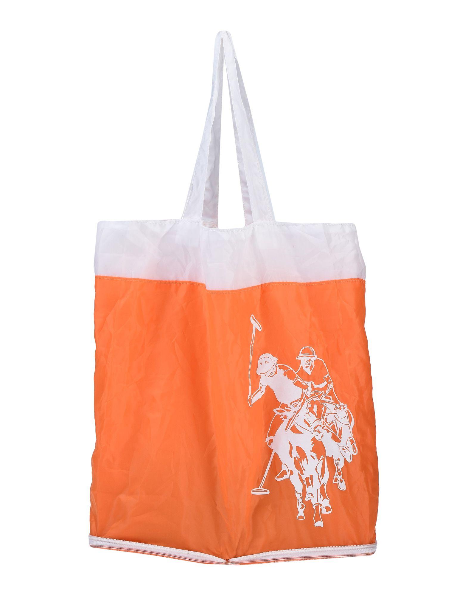 《期間限定セール中》U.S.POLO ASSN. レディース ハンドバッグ オレンジ 紡績繊維