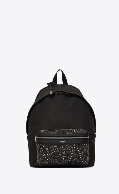 Bandana CITY backpack in vintage leather and studs