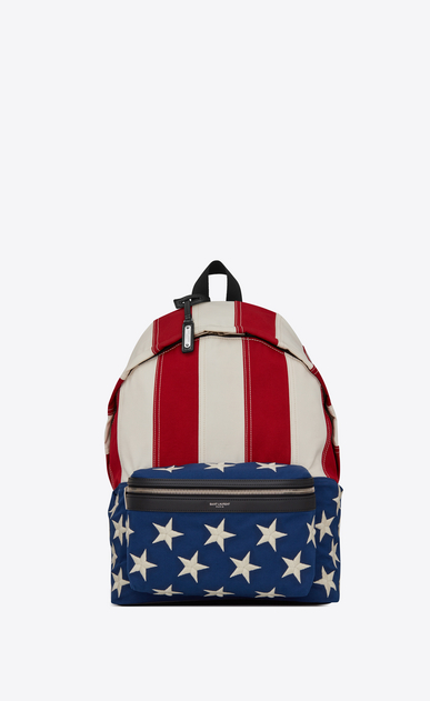 CITY canvas backpack with American flag print