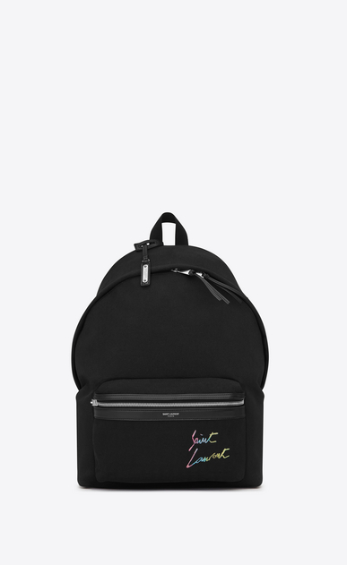 CITY canvas bag with Saint Laurent embroidery