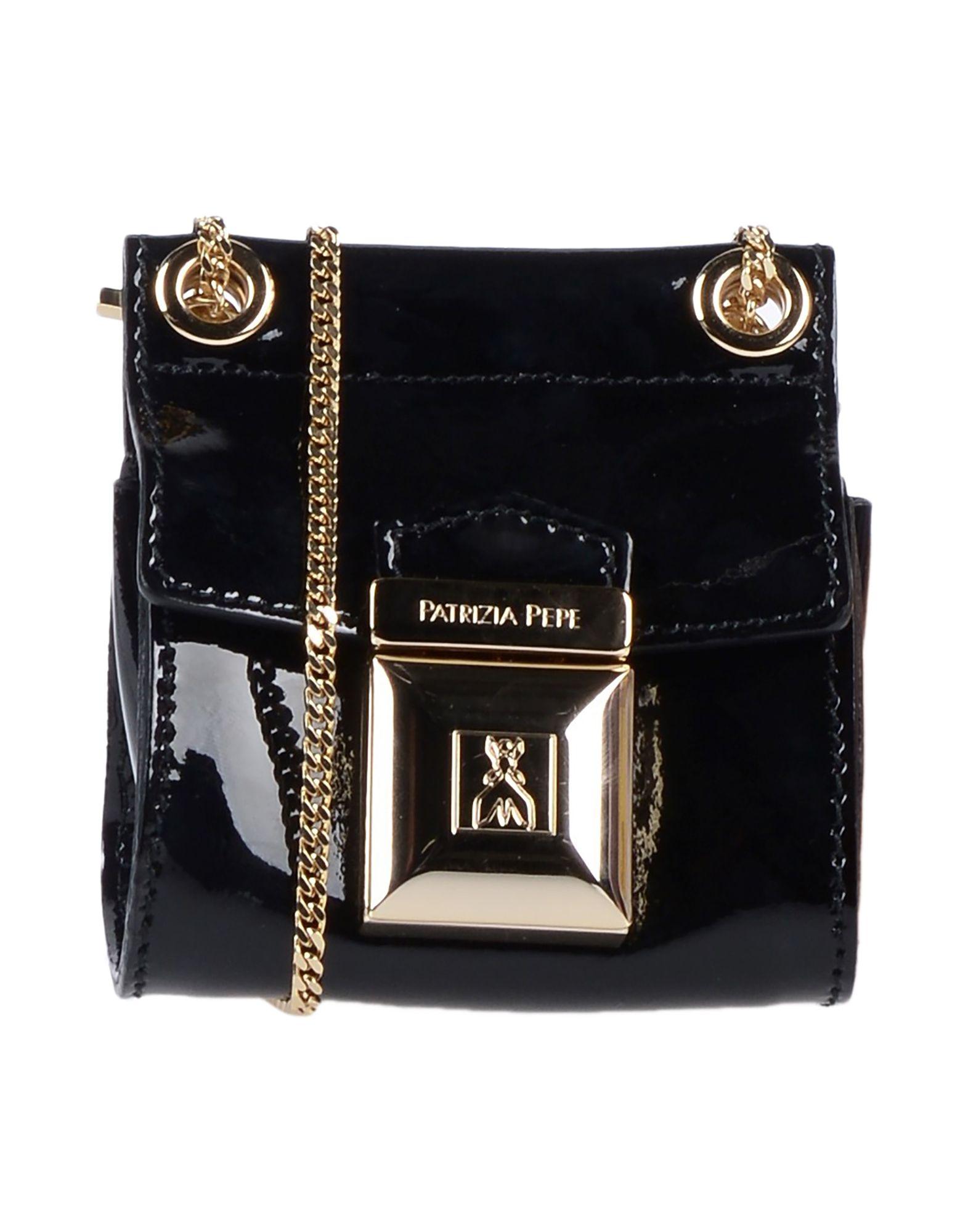 《送料無料》PATRIZIA PEPE レディース メッセンジャーバッグ ブラック 革