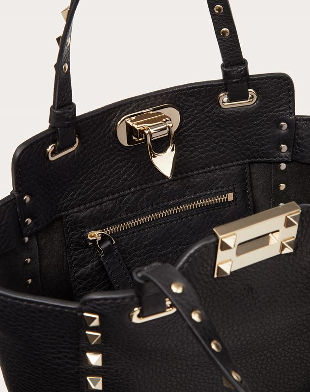 Mini Rockstud Grainy Calfskin Bag