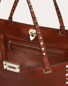 Medium Rockstud Grainy Calfskin Bag