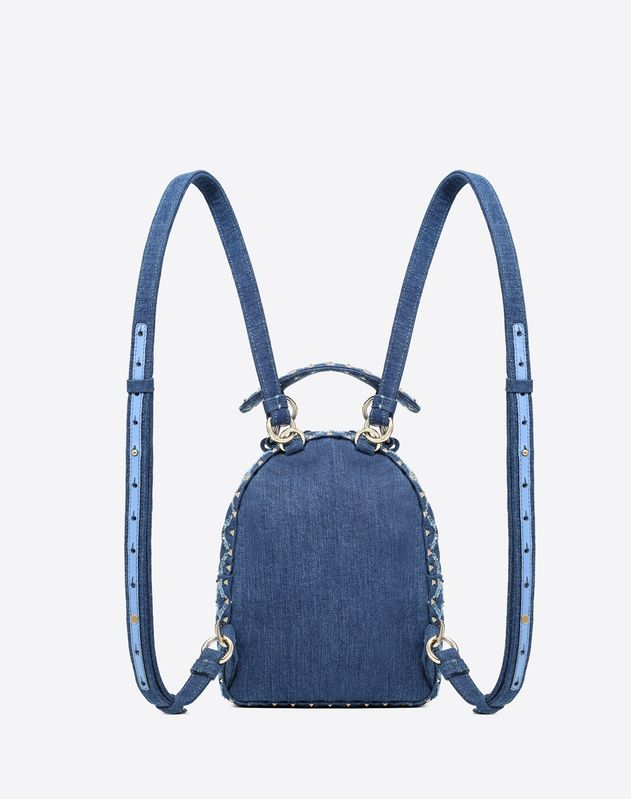 Mini Denim Rockstud Spike backpack