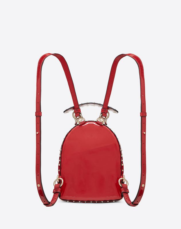 Mini patent Rockstud Spike backpack