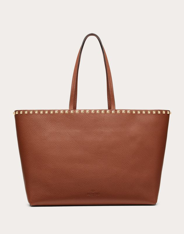 Borsa Shopping Rockstud in Vitello Granato
