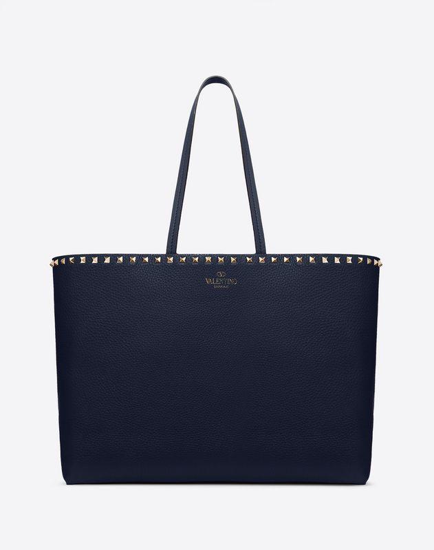 d375b39b05 Rockstud Grainy Calfskin Shopper for Woman | Valentino Online Boutique