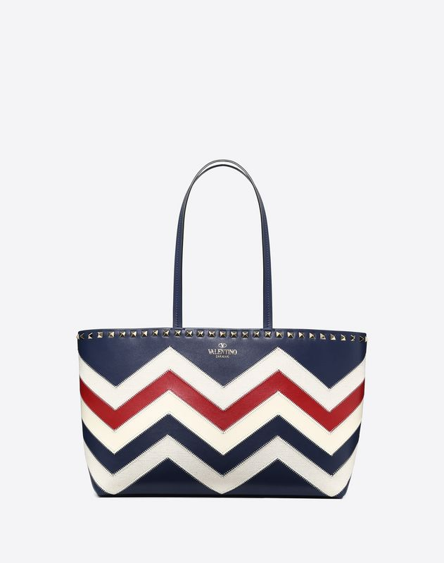 Small Chevron Motif Rockstud Ping Bag