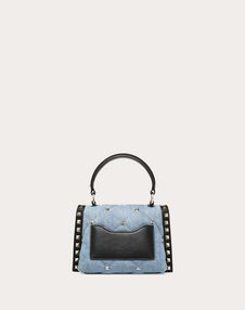 Mini Denim Candystud top-handle bag