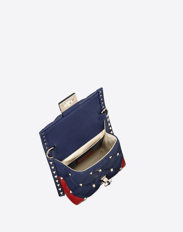 Mini V inlay Candystud top-handle bag