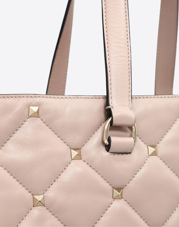 Large quilted Boomstud top-handle bag