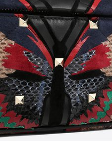 Quilted Butterfly Boomstud belt bag