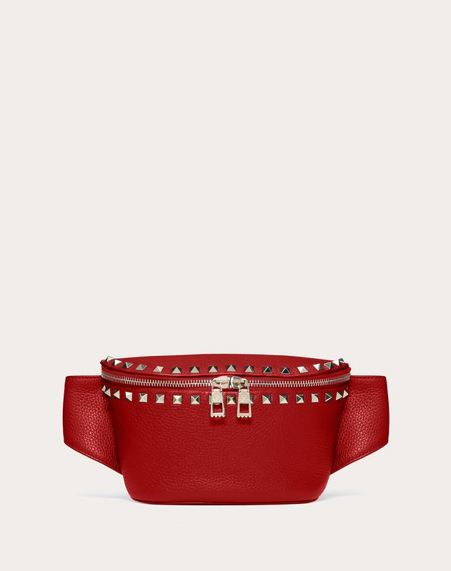 77b12c0353e5 Rockstud Grainy Calfskin Belt Bag ...