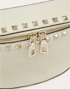 Rockstud Grainy Calfskin Belt Bag