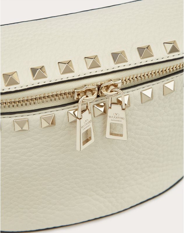Rockstud Grainy Calfskin Belt Bag
