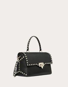 Medium Grain calfskin leather Rockstud Handbag