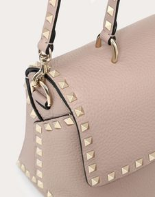 Medium Grain calfskin leather Rockstud Handbag