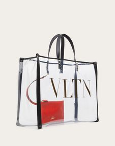 Small VLTN plexy shopping bag