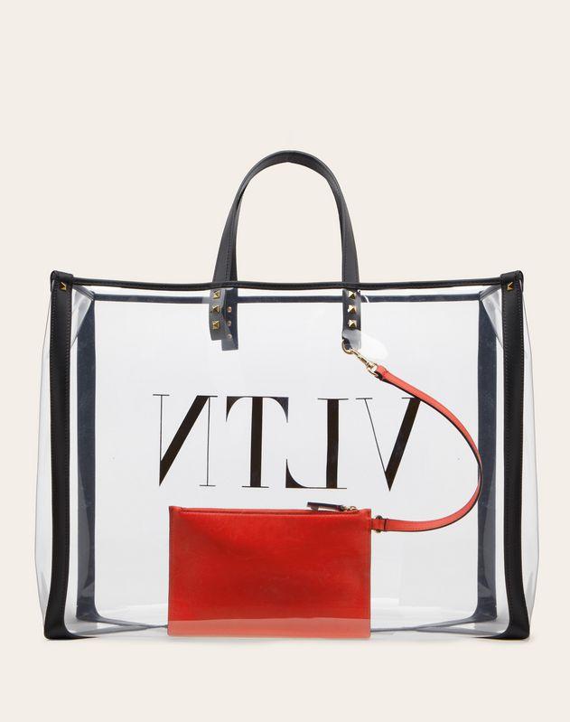 Маленькая сумка-шоппер VLTN из плексигласа