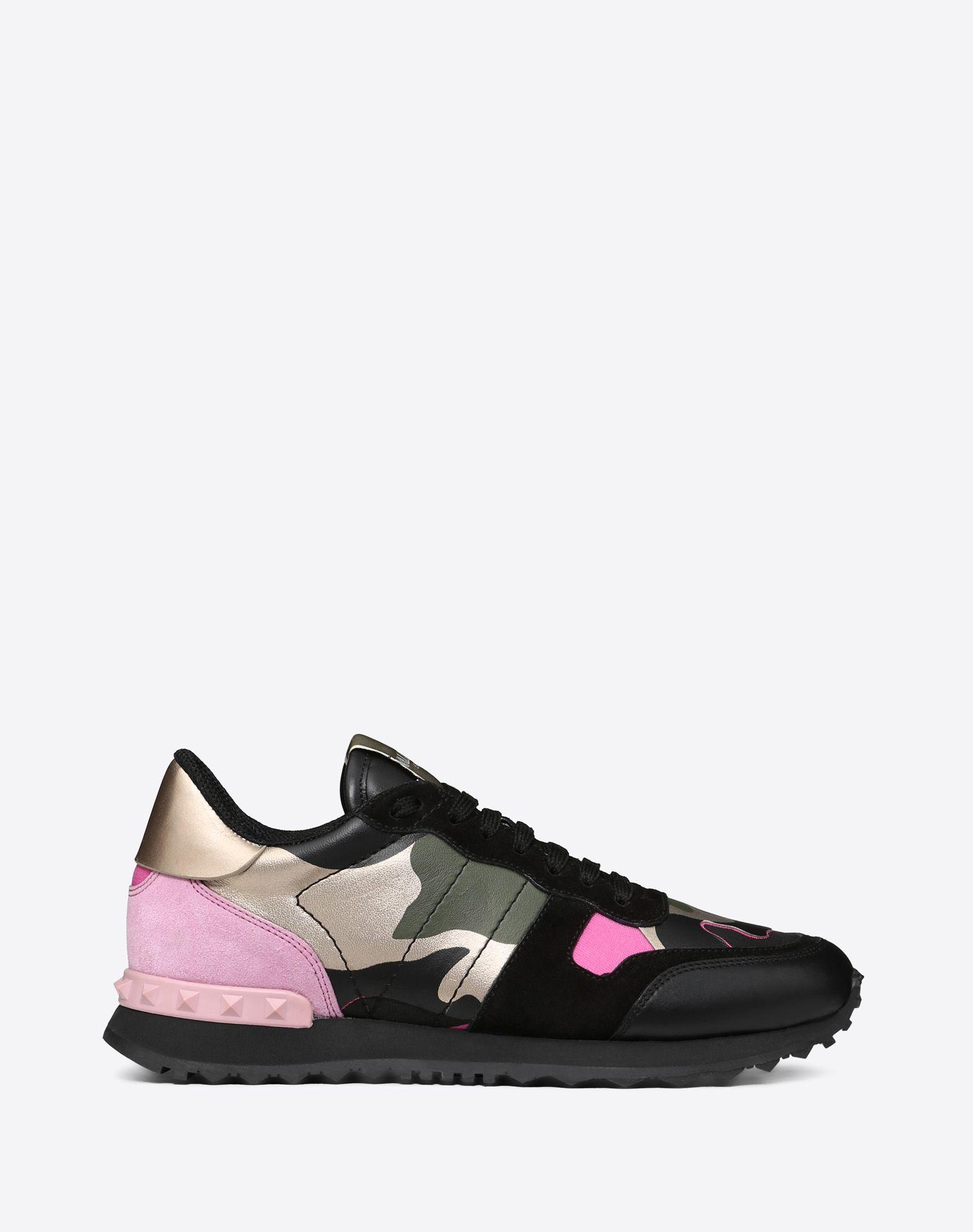 Sneaker Camouflage con dettagli metallici