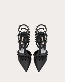 Rockstud Ankle Strap Pump with Tonal Studs 65 mm