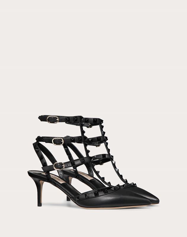 Lacquer Stud Rockstud Caged Pump 65mm