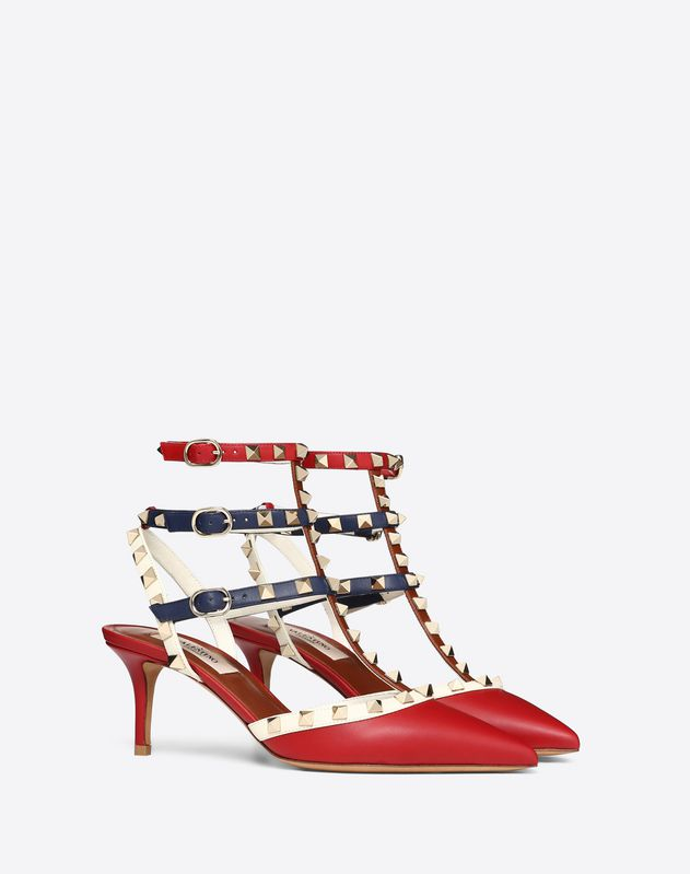 Multicolor Rockstud caged Pump 65mm