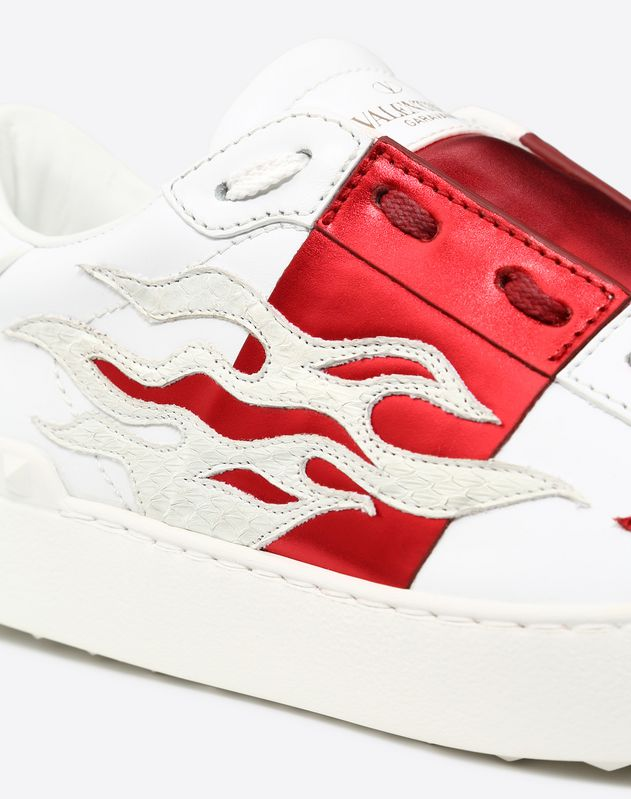 Flames embroidery Open Sneaker