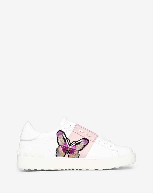 Butterfly embroidery Open Sneaker