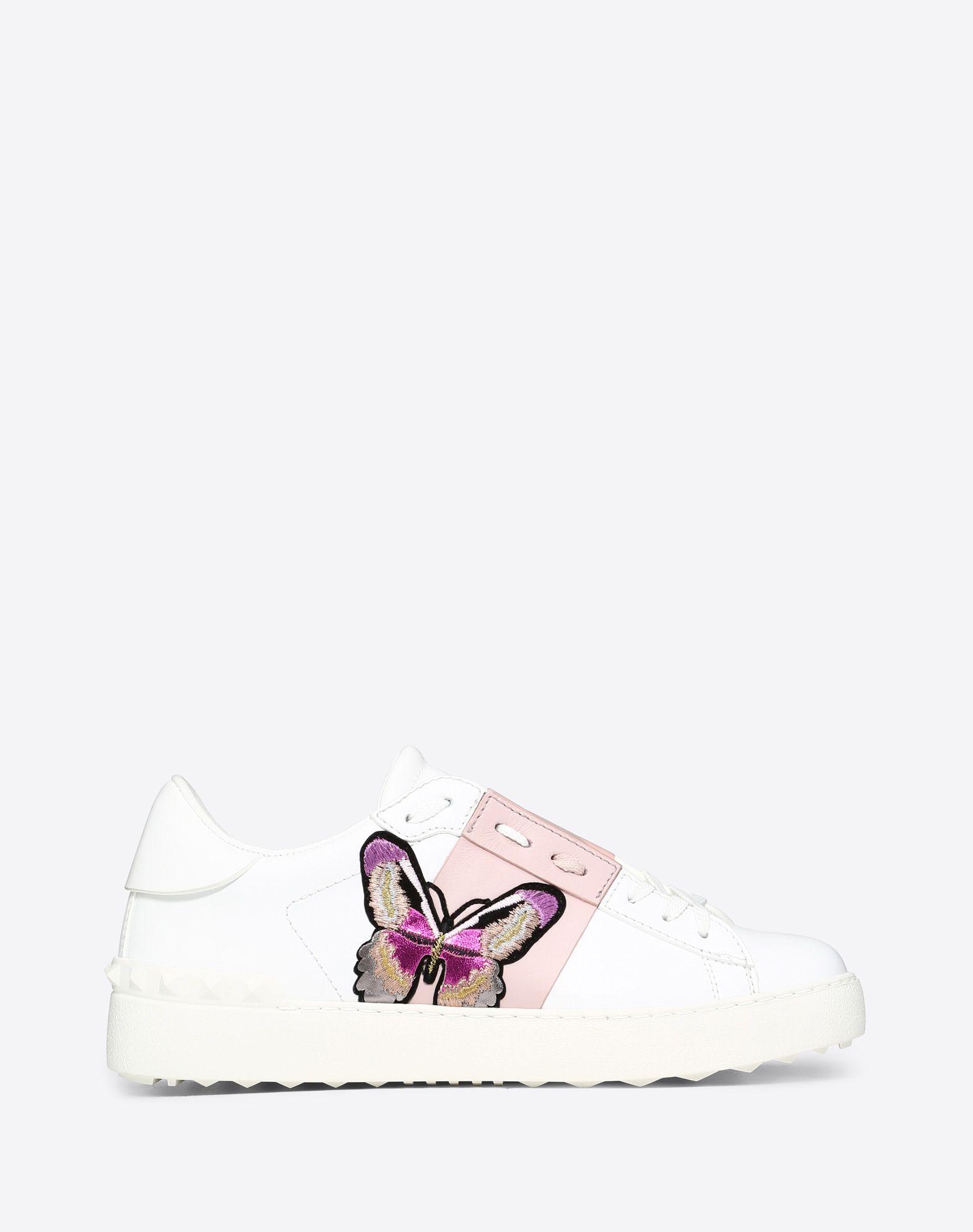 Butterfly embroidery Open Sneaker
