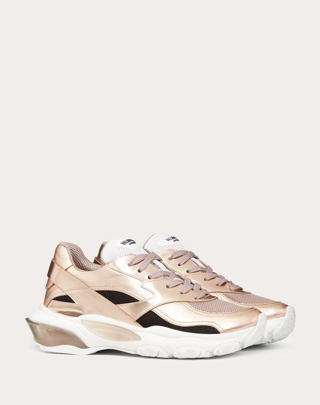 VLTN Metallic Low-Top Bounce Sneaker